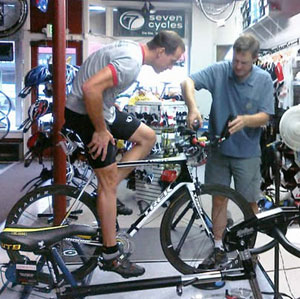 Bob doing a custom bike fit